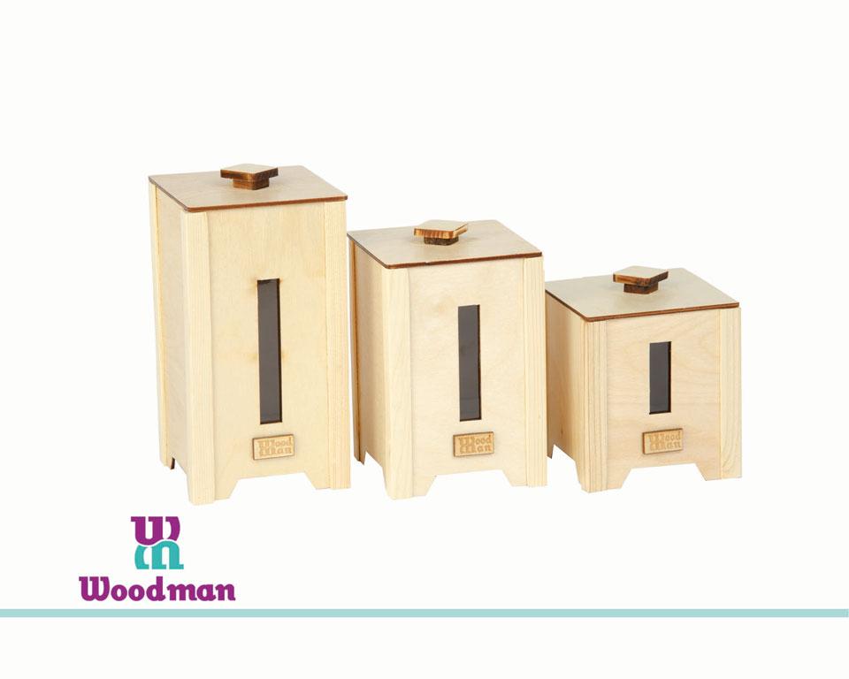 بانکه چوبی خودرنگ