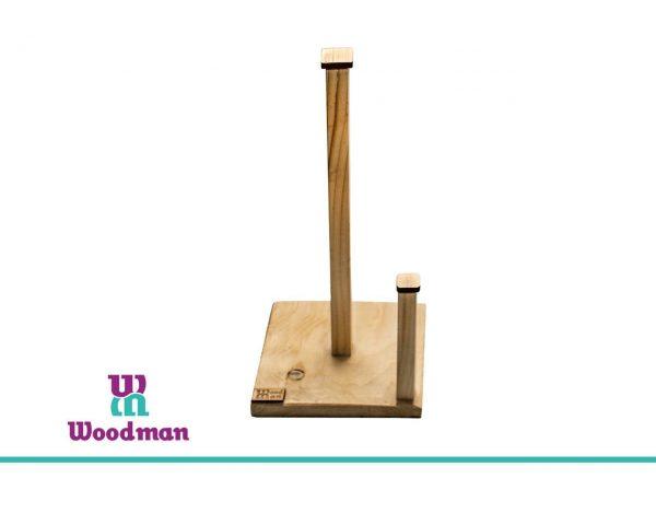 جا دستمال رول چوبی